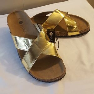 Chatties Gold Sandals